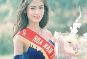 Hoa hậu Thu Thủy lúc đăng quang...